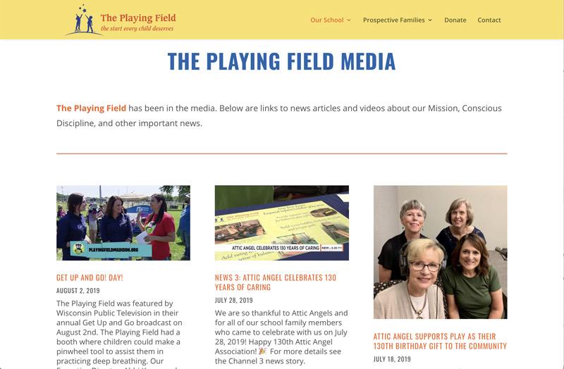 The Playing Field News Jan2020 Media Screenshot